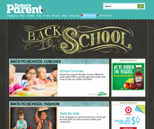 Today's Parent - Back To School 2014